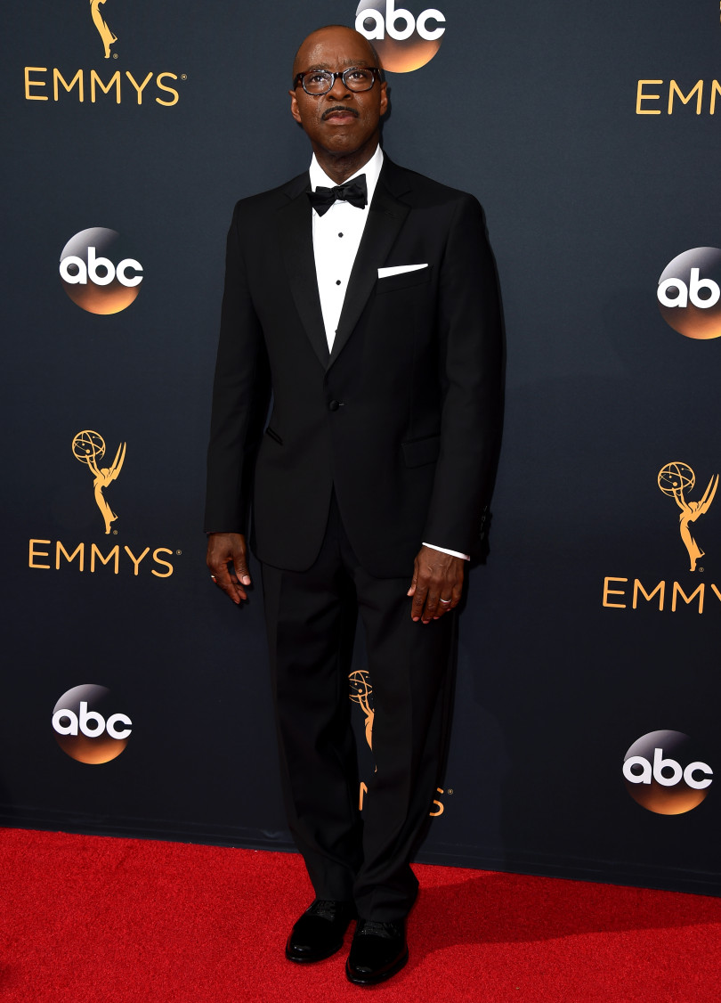 Courtney B. Vance arrives at the 68th Primetime Emmy Awards on Sunday, Sept. 18, 2016, at the Microsoft Theater in Los Angeles. (Photo by Jordan Strauss/Invision/AP)