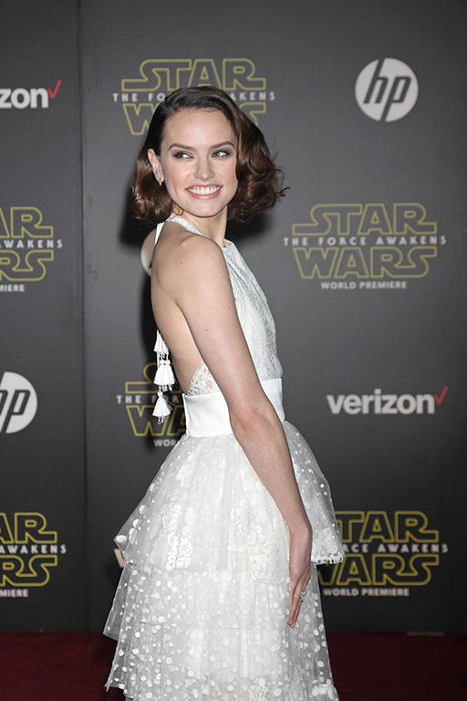 "Daisy Ridley at the ""Star Wars: The Force Awakens"" World Premiere, El Capitan, Hollywood, CA 12-14-15 David Edwards/DailyCeleb.com 818-249-4998"