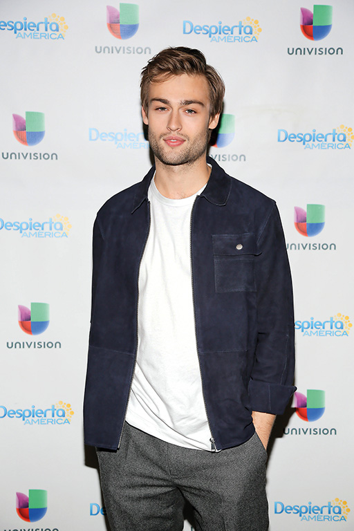 """MIAMI, FL - JANUARY 19: Actors Douglas Booth is seen promoting his up coming movie Pride-Prejudice and Zombies at """"Despierta America"""" morning show on January 19, 2016 in Miami, Florida. (Photo by Alberto E. Tamargo) *** Please Use Credit from Credit Field ***"""