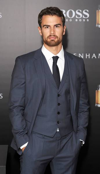 Photo Must Be Credited ©Jeff Spicer/Alpha Press 079907 17/09/2015 Theo James New Face of Hugo Boss The Scent at Debenhams Oxford Street London