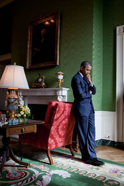 Nov. 22, 2010 - Washington, DC - President Barack Obama stands alone in the Green Room before speaking at the White House Summit on Community Colleges, Oct. 5, 2010. (Official White House Photo by Pete Souza)....This official White House photograph is being made available only for publication by news organizations and/or for personal use printing by the subject