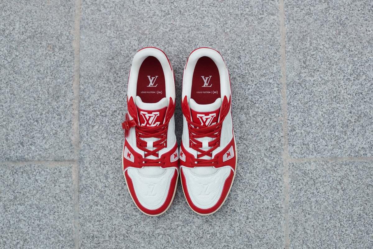 Louis Vuitton red hari aids sedunia