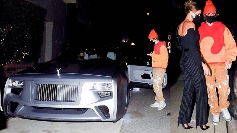 Justin Bieber Hailey Bieber Rolls Royce